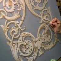 Альфрейная роспись в интерьере