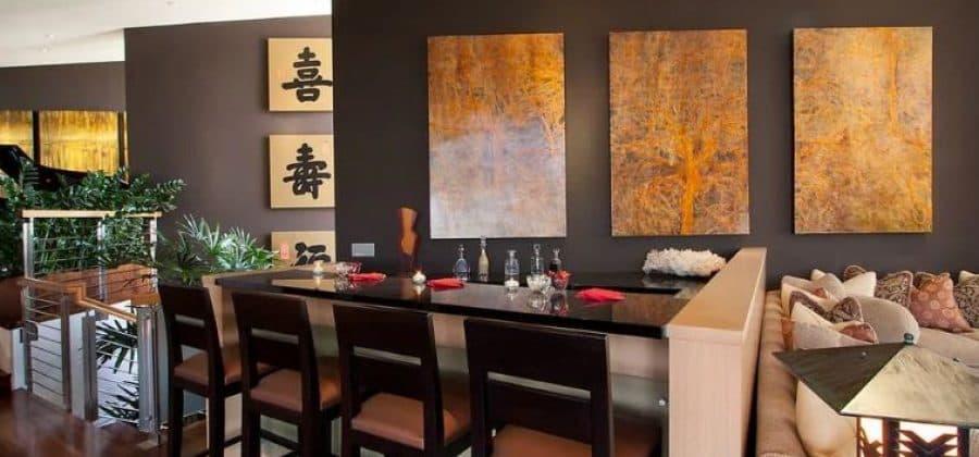 Китайская живопись, оформление интерьера кафе