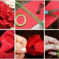 Как из салфетки сделать цветок
