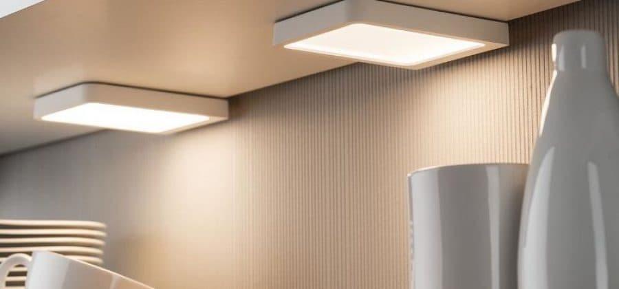 Квадратные светильники в интерьере