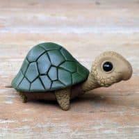Лепка черепахи из глины