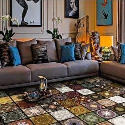 Скульптурные ковры в интерьерах домов и квартир